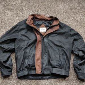Men's Remy Leather Jacket USA Made Size 44 XL
